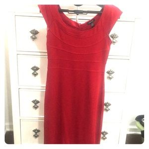 Red cocktail dress. Size S.